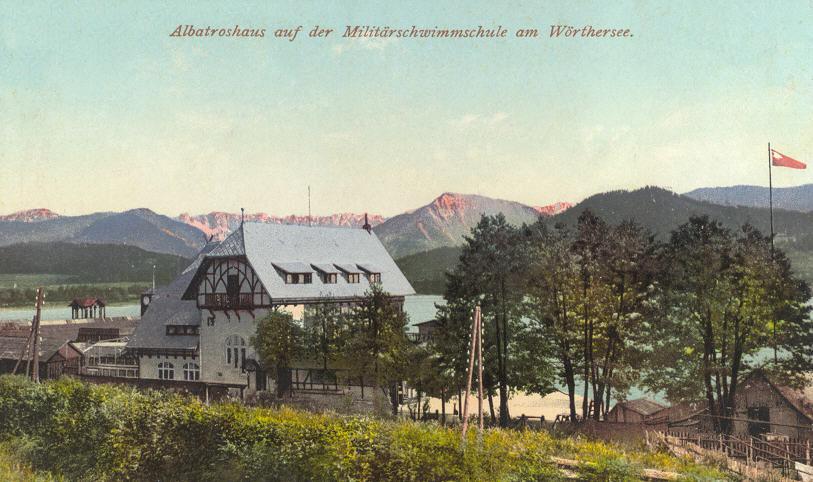 RV-Albatros | Bootshaus | 1910 | coloriert