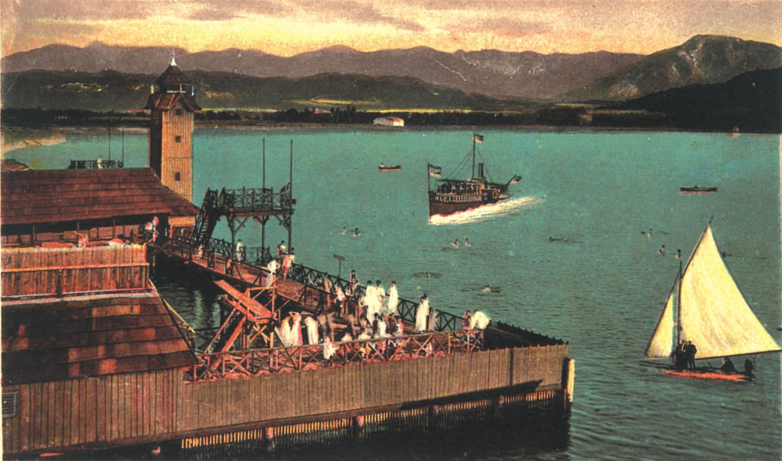 RV Albatros | Geschichte | Militärschwimmschule | koloriert