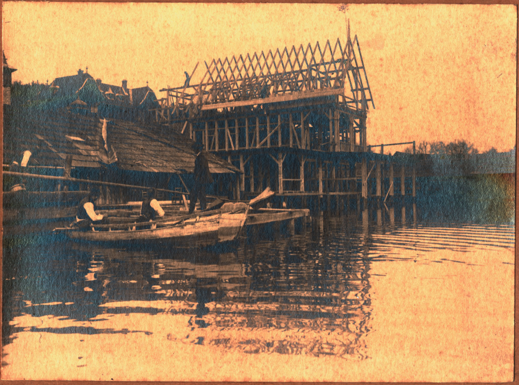 RV-Albatros | heutiges Bootshaus in Bau | 1908