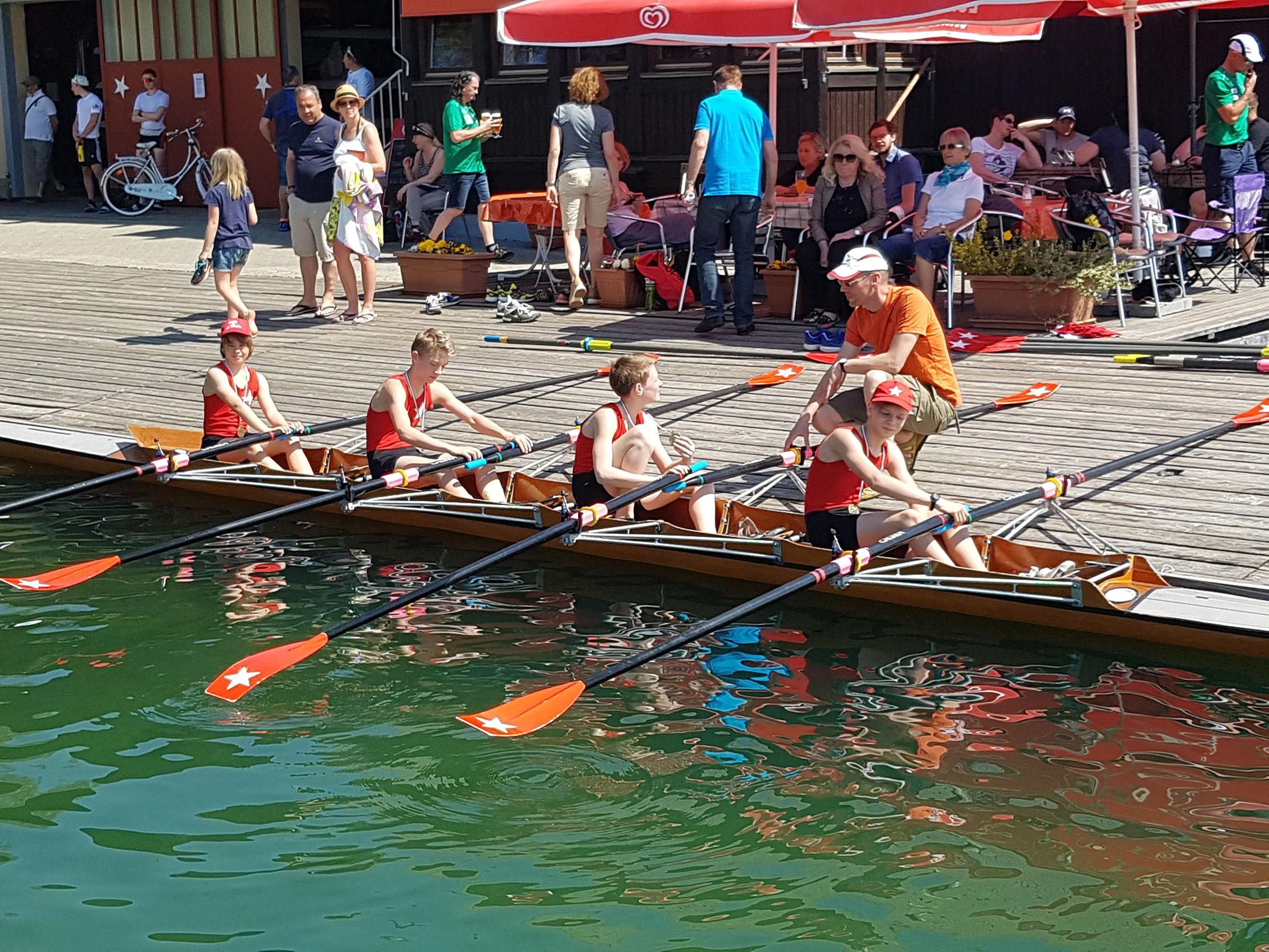 84. Kärntner Ruderregatta - Schüler Doppelvierer Platz 3: Felix Mikosch, Leo Oswald, Uli Oswald, Luca Darnhofer-Demar