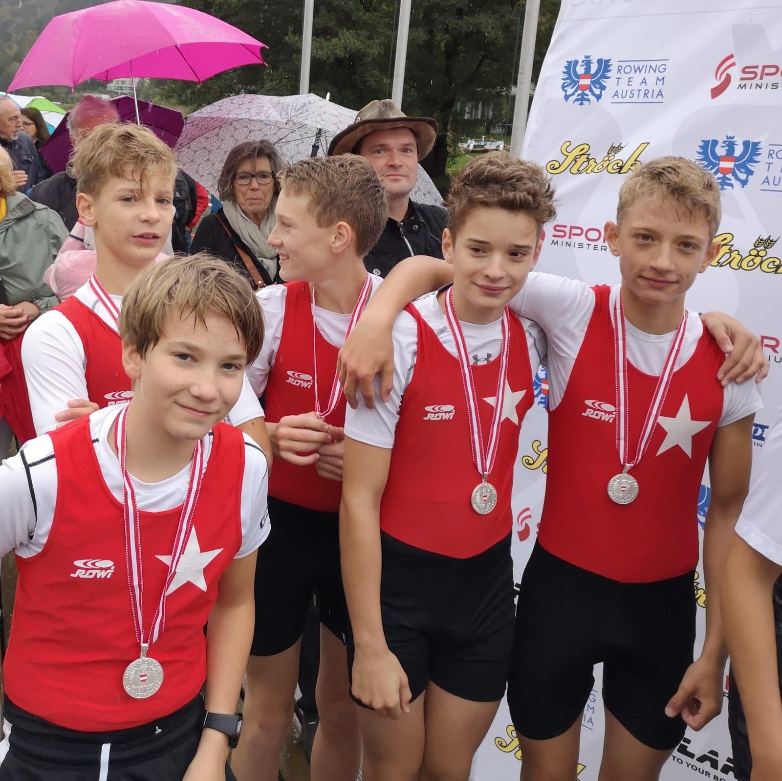 ÖM 2018 Ossiachersee | Luca Darnhofer, Ulli und Leo Oswald, Paul Mikosch, Stm: Florian Staniszewski